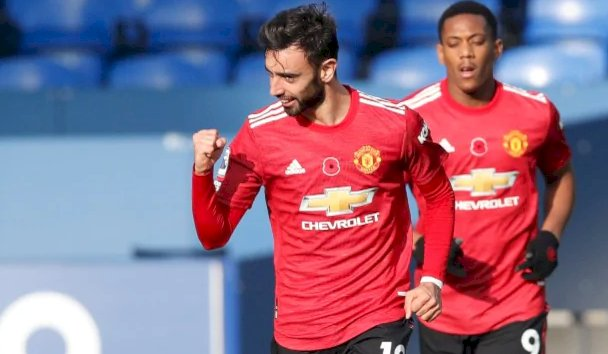 Premier League: Bruno Fernandes support, Edinson Cavanis first goal sees Manchester United beat Everton